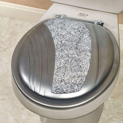 Brilliance Standard Toilet Seat Silver Gray