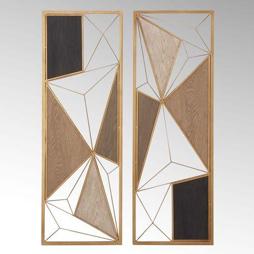 Tolbert Wall Art Panels Gold Set of Two
