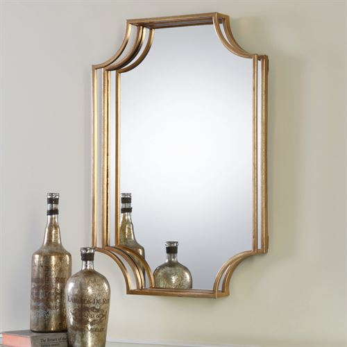 Lindee Wall Mirror Antique Gold