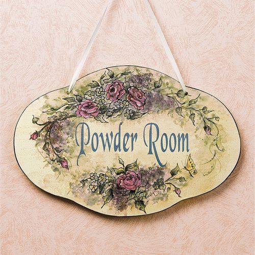 Powder Room Plaque