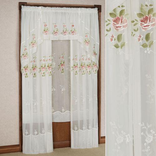 Graceful Blooms Sheer Curtain Panel