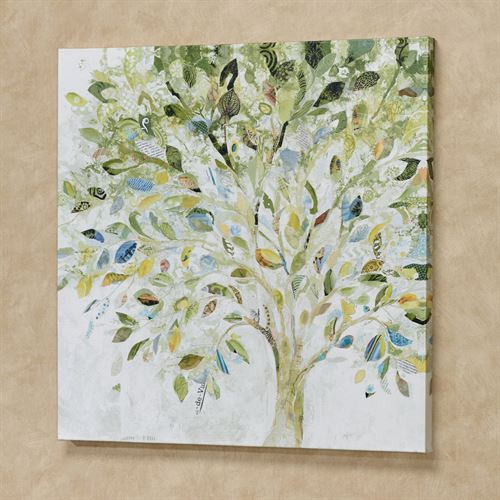 Patchwork Tree Canvas Wall Art Multi Cool