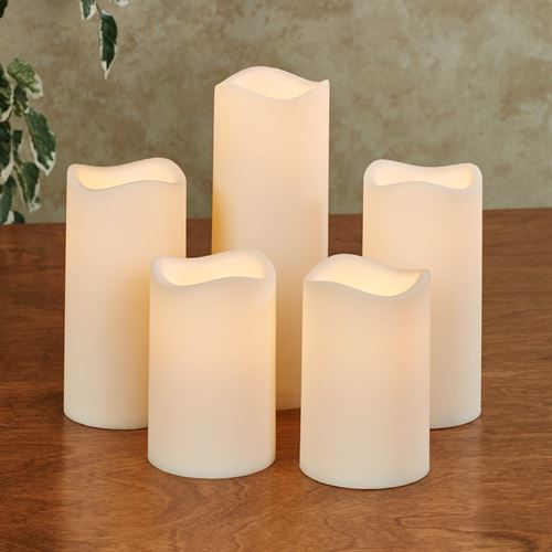 Elin LED Flameless Candles Ivory Set of Five