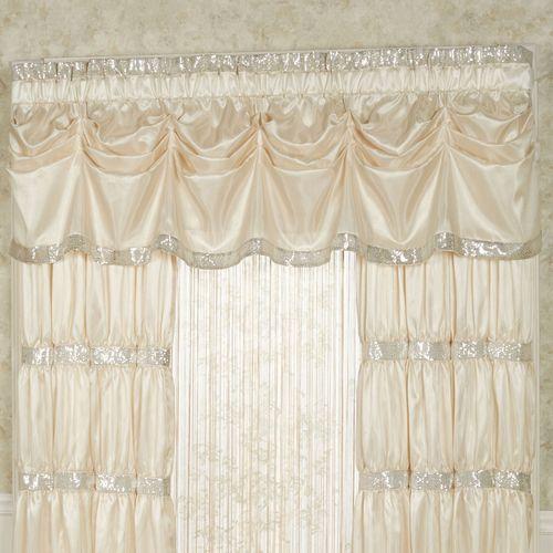 Radiance Faux Silk Tuck Valance Window Treatment