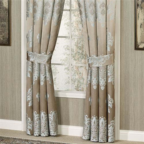 Athena Tailored Curtain Pair Light Taupe