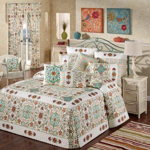 Cote d Azur Grande Bedspread Light Cream