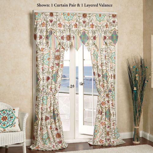 Cote d Azur Tailored Curtain Pair Light Cream 84 x 84
