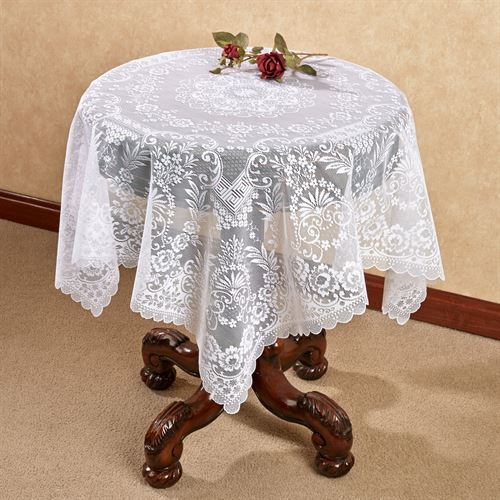 Hadleigh Lace Table Topper White 42 x 42