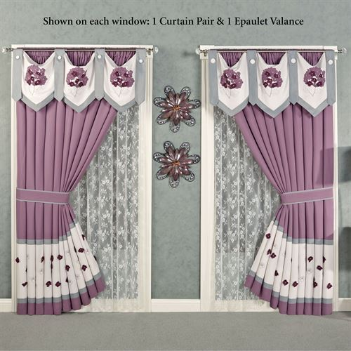 Harmony Tailored Curtain Pair Orchid