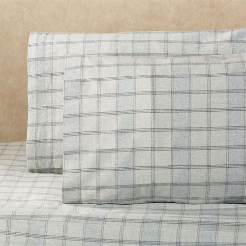 Heather Gray Plaid Sheet Set