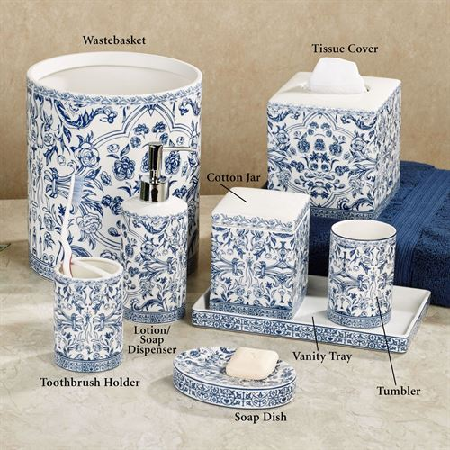 blue and white porcelain bathroom accessories orsay blue toile porcelain bath accessories 25166