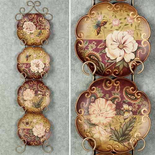 Natures Beauty Decorative Plate SetMulti JewelSet of Four