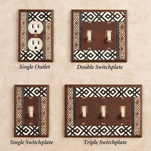 Tribal Single Switch Brown