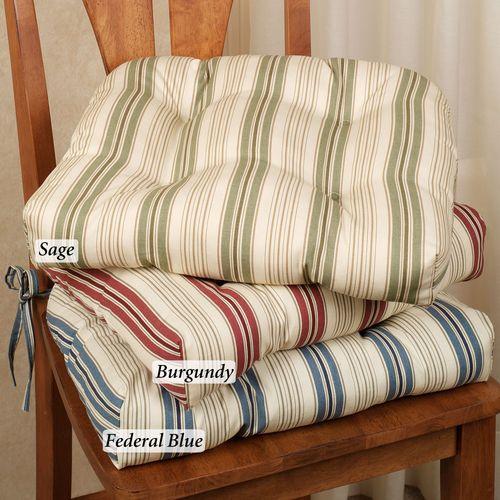 Kimberly Stripe Chair Cushion 17 x 15