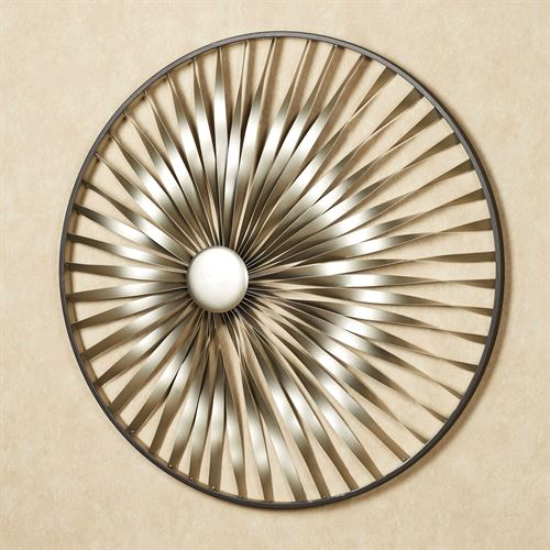 Twirl Revelation Wall Sculpture Champagne Gold