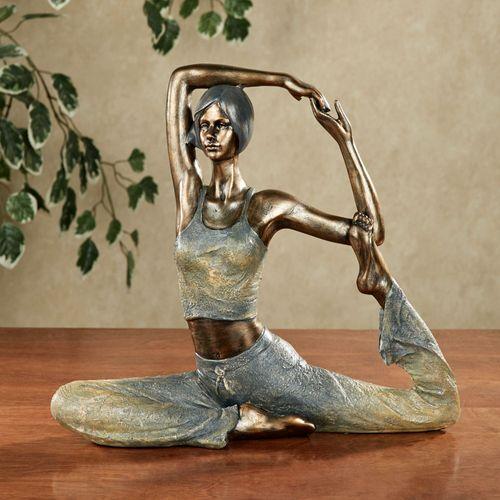 Yoga Table Sculpture Bronze