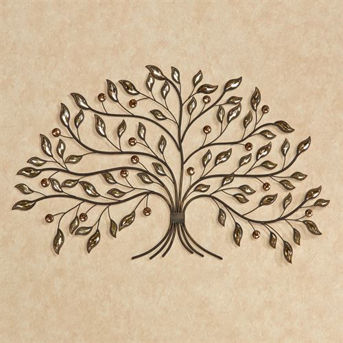 Alexandra Vining Tree Metal Wall Art Brown