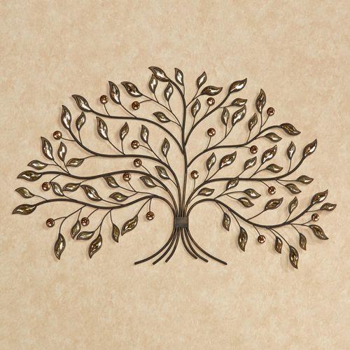 Alexandra Vining Tree Metal Wall Art Brown