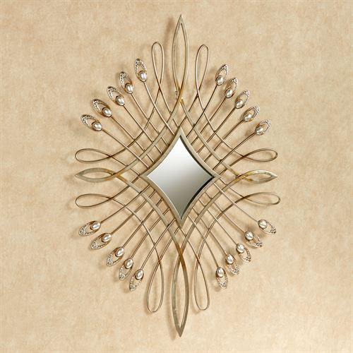 Julietta Metal Wall Accent Champagne Gold