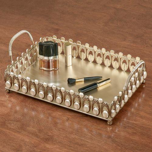 Julietta Vanity Tray Champagne Gold