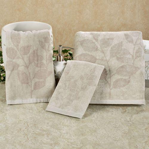 Garden Gate Towel Set Gray Bath Hand Fingertip