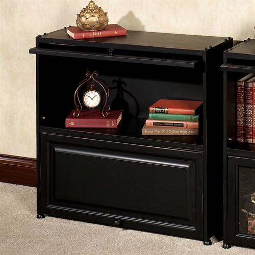 Auston Barrister Bookcase with Wood Doors