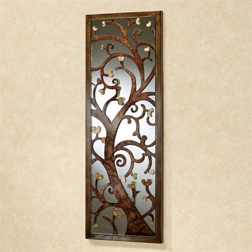 Delicate Silhouette Mirrored Wall Art Brown