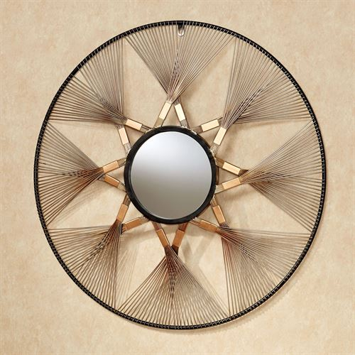 Kwabena Round Mirrored Wall Art Copper