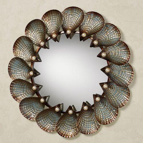 Hidden Pearls Wall Mirror Golden Bronze