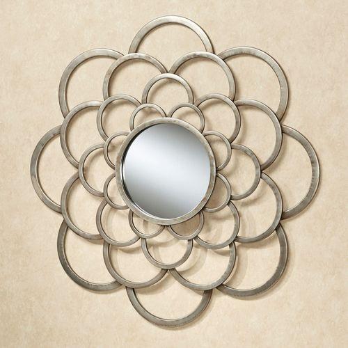Rosalbra Mirrored Wall Art Platinum