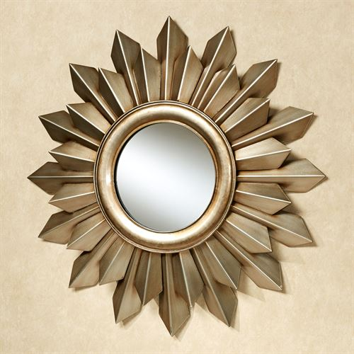 Orlana Burst Mirrored Wall Art Champagne Gold