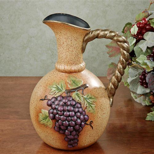 Vineyard Grapes Decorative Pitcher Vase