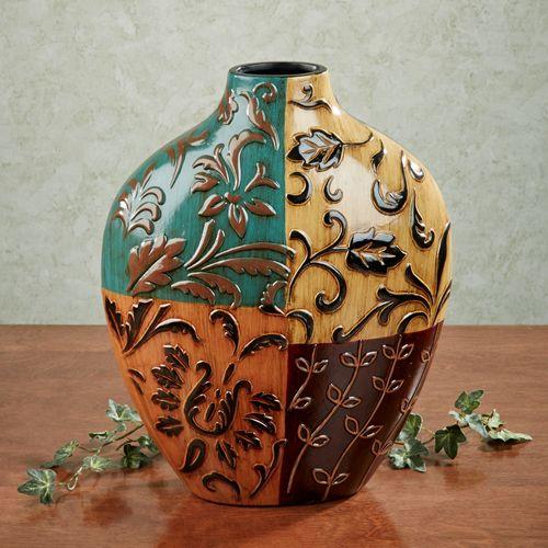 Contempo Foliage Vase Multi Jewel