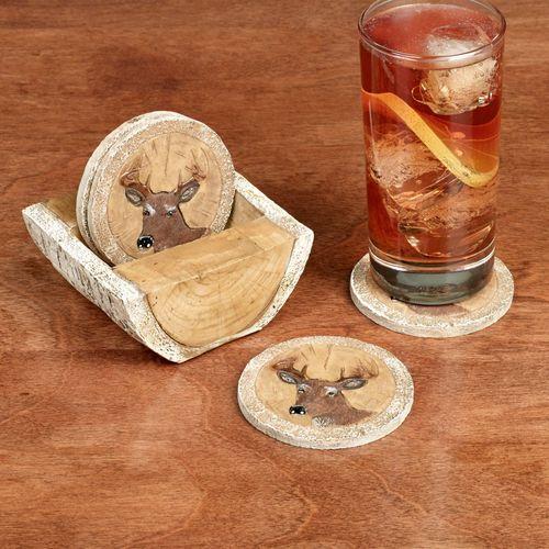 Deer Coaster Set Multi Earth