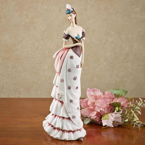 Poised Lady Figurine Merlot