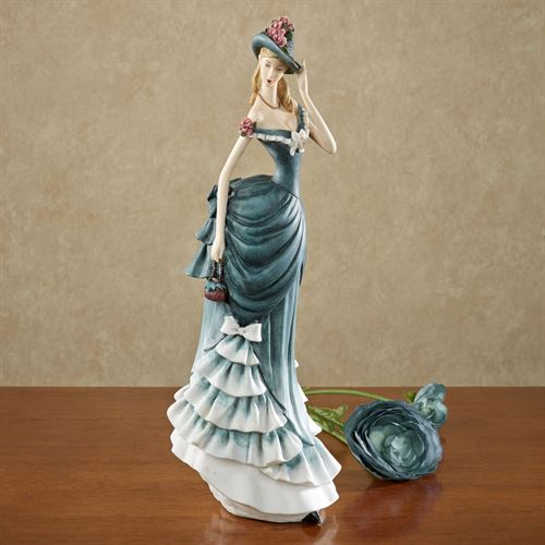 Debutant Lady Figurine Blue/Green