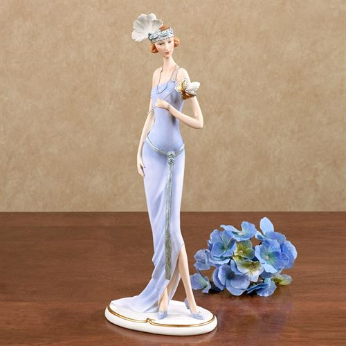 Masquerade Lady Figurine Light Blue