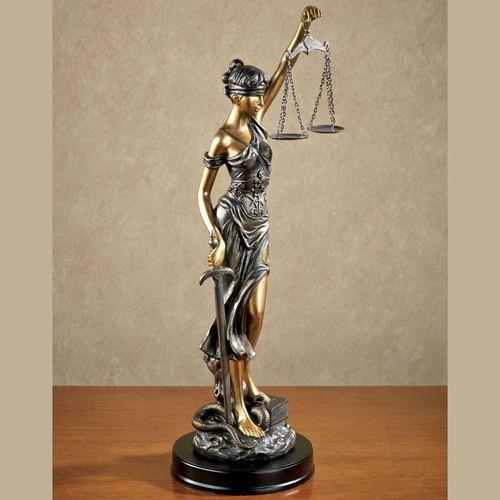 Themis Blind Justice Statue Bronze