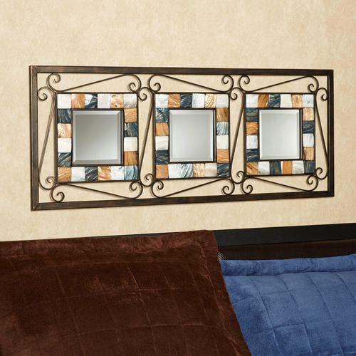 Darius Tiled Wall Mirror Panel Brown
