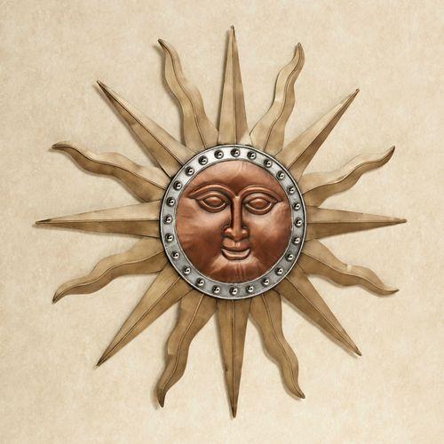 Radiant Shine Sun Wall Art Multi Metallic