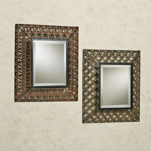 Raghnall Accent Wall Mirror Set Multi Metallic Set of Two