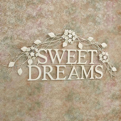 Sweet Dreams Word Wall Art Creamy Gold