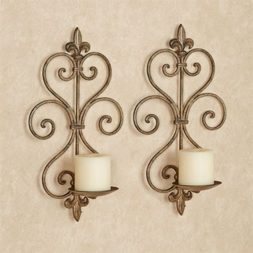 Charles Wall Sconce Pair Antique Gold Pair