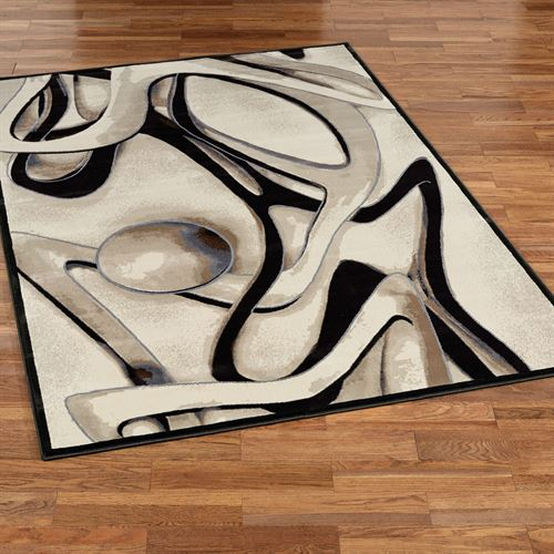Raven Abstract Contemporary Area Rugs