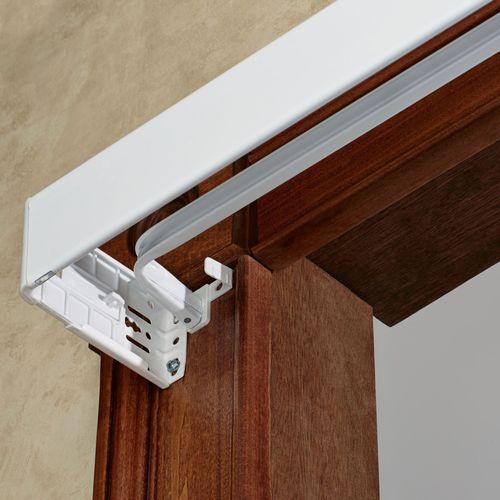 Utility Double Curtain Rod Set White