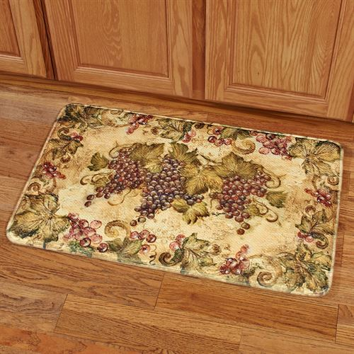 Antique Grapes II Rectangle Cushion Mat Multi Warm 111 x 211