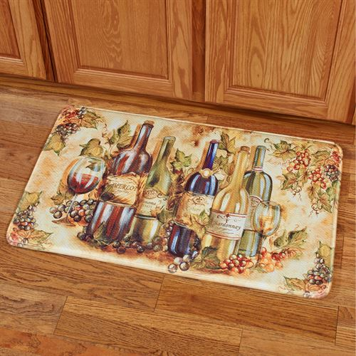Grapevine II Memory Foam Rectangle Cushion Mat Multi Warm 111 x 211