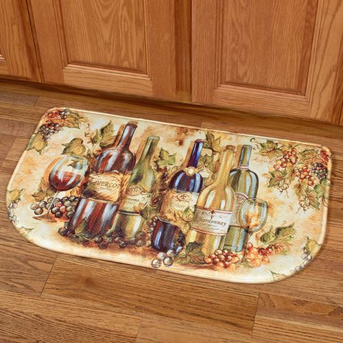 Grapevine II Memory Foam Slice Cushion Mat Multi Warm 30 x 18