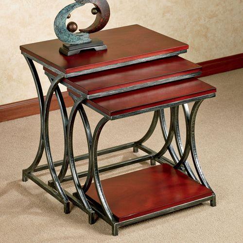 Ian Nesting Tables Estate Mahogany Set of Three