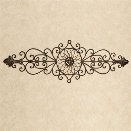 Aria Wrought Iron Wall Grille Antique Bronze